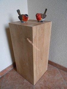 Massief eiken houten sokkel / zuil / pilaar