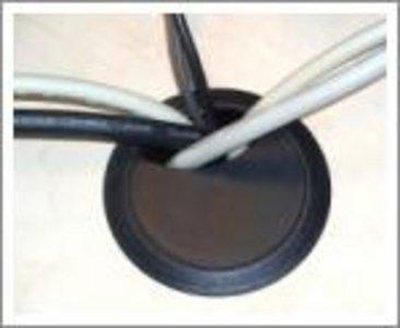 80 mm Kabeldoorvoer Zwart